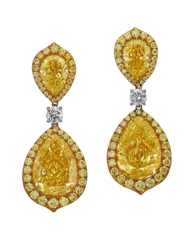fancy intense yellow diamond earrings turgeon raine
