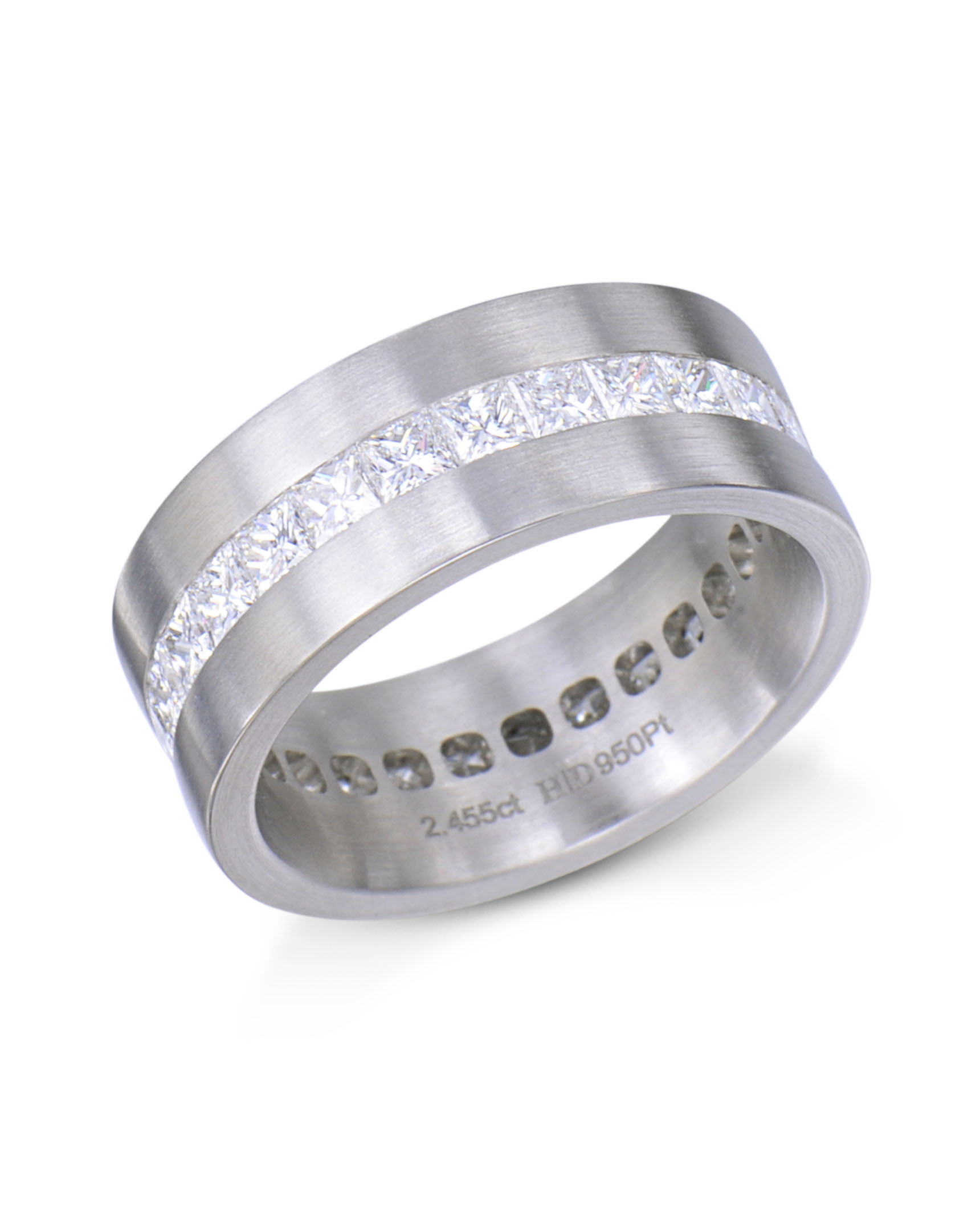 jewelry diamond fine round eternity platinum band bands