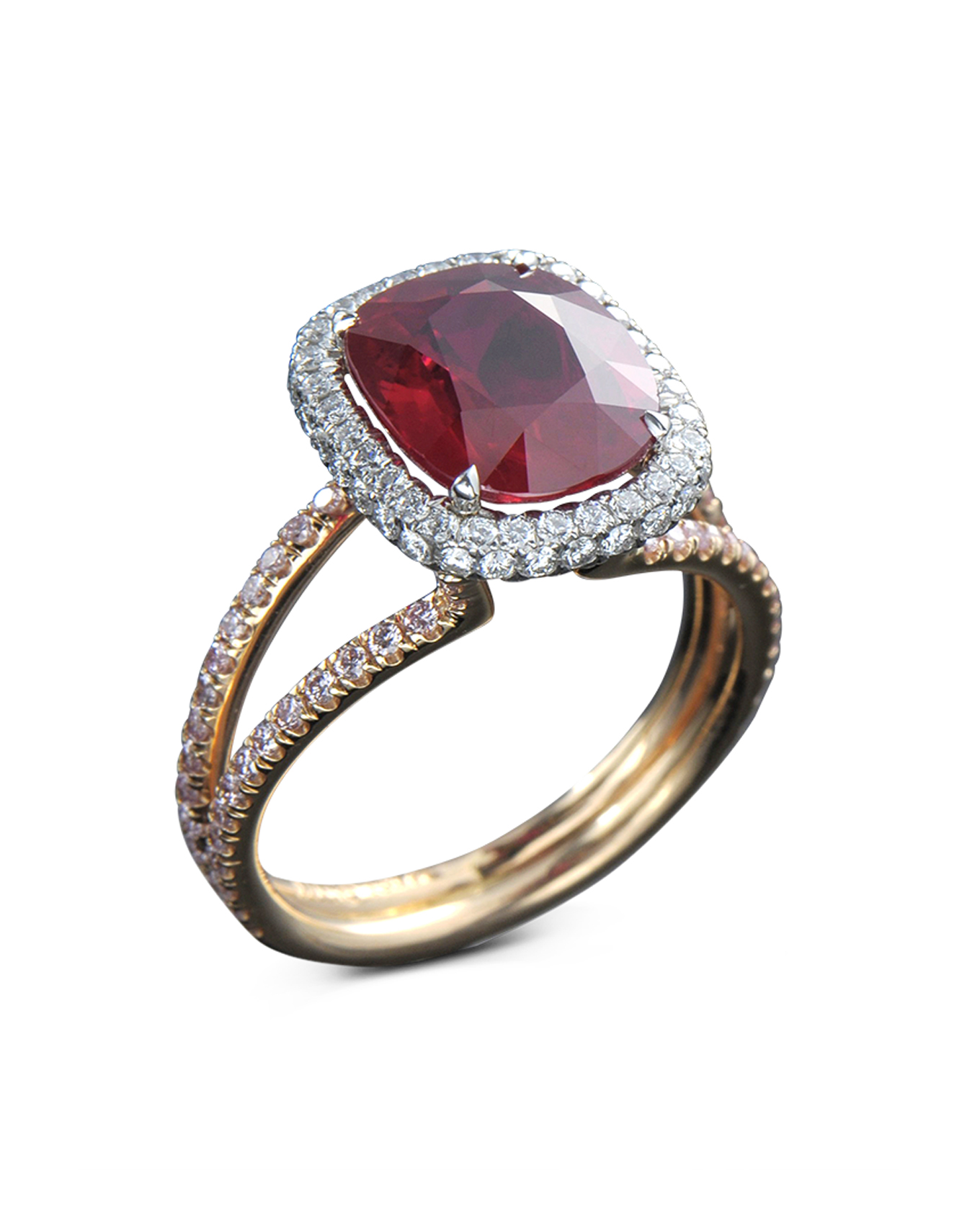 Custom Burma Ruby Ring: Burma Ruby And Diamond Ring