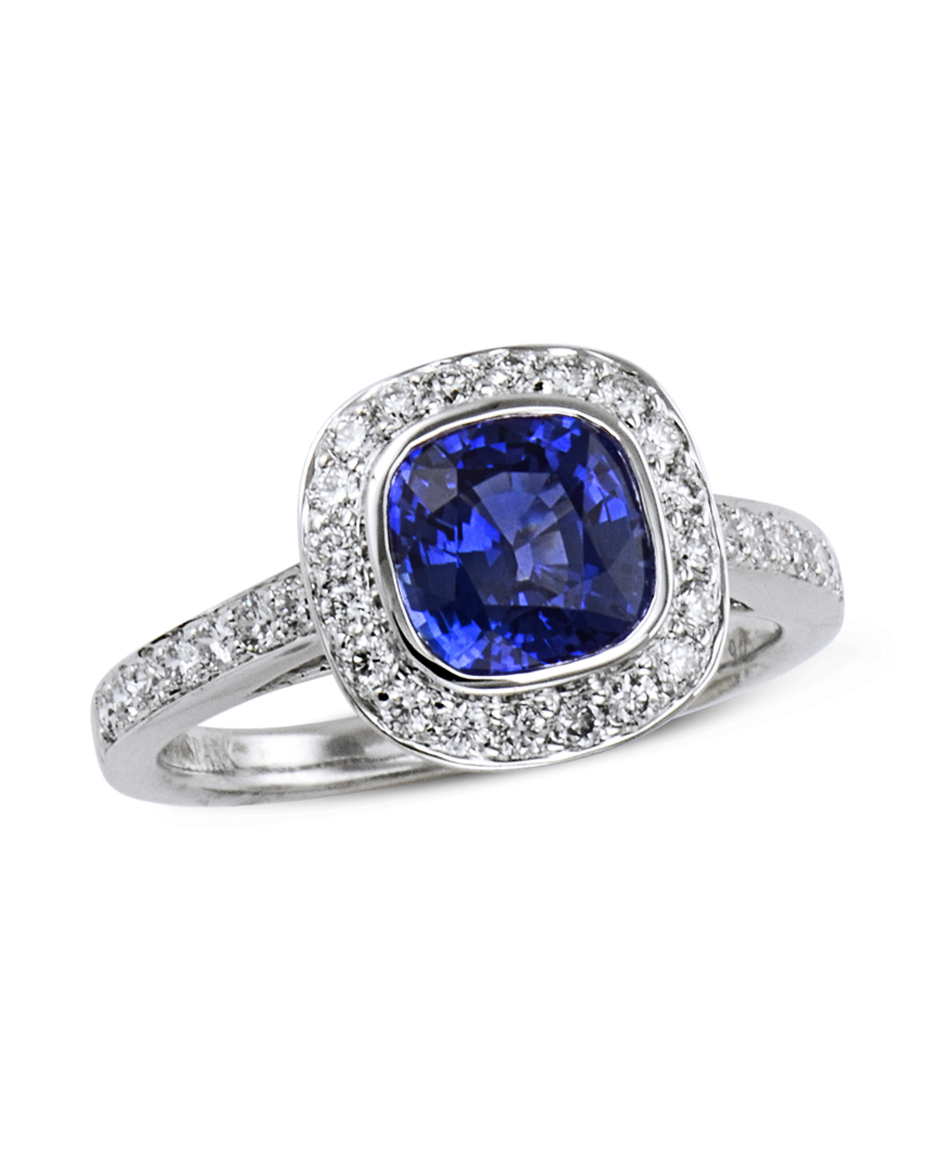 D754 06a: Sapphire And Diamond Ring