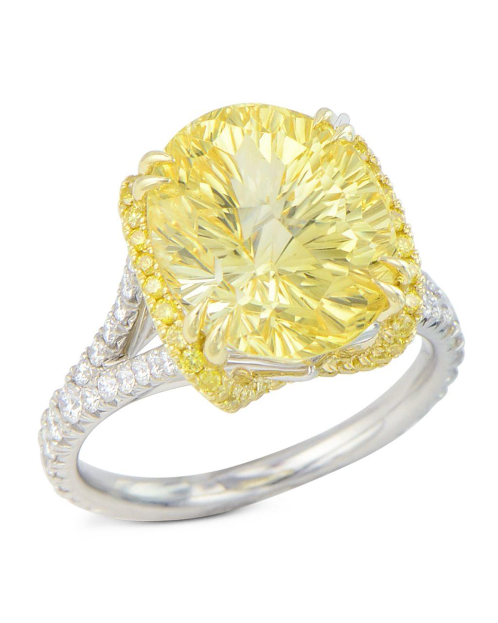 sunburst cut yellow sapphire ring turgeon raine