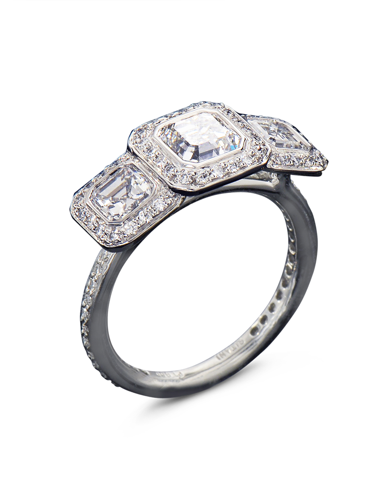 weighing cut stunning j beautiful l ring the of jewelry centred on rings a and early engagement at carat diamond g platinum asscher id