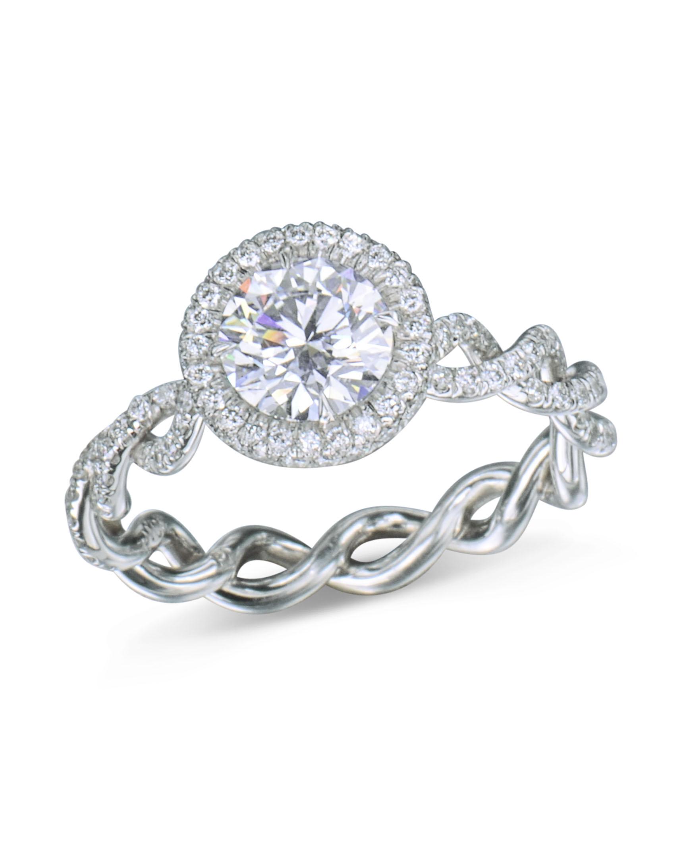 Round Diamond Unity Twist Engagement Ring