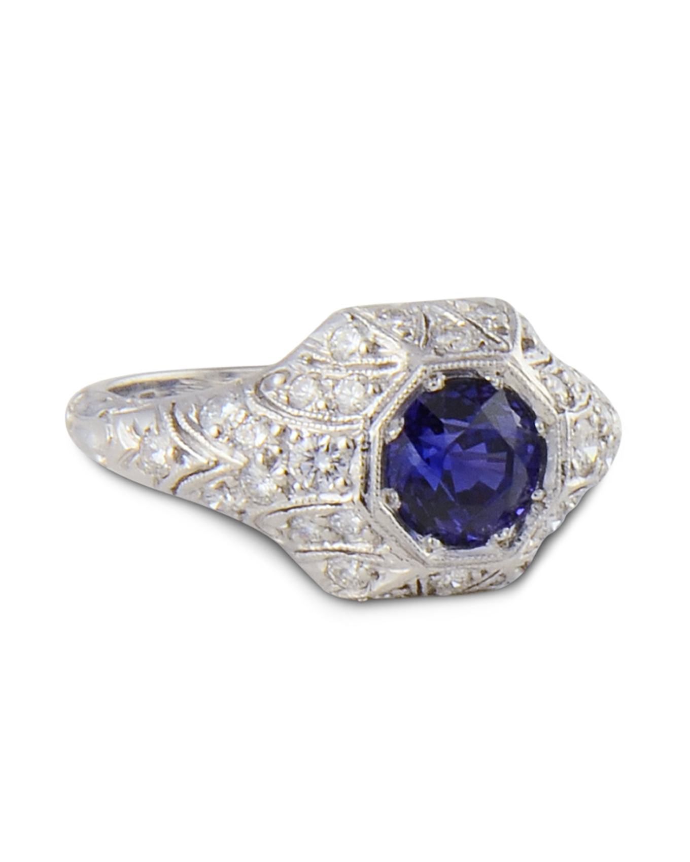 white ring eternity sapphire halo blue in rings and gold chic diamond rutpiyk