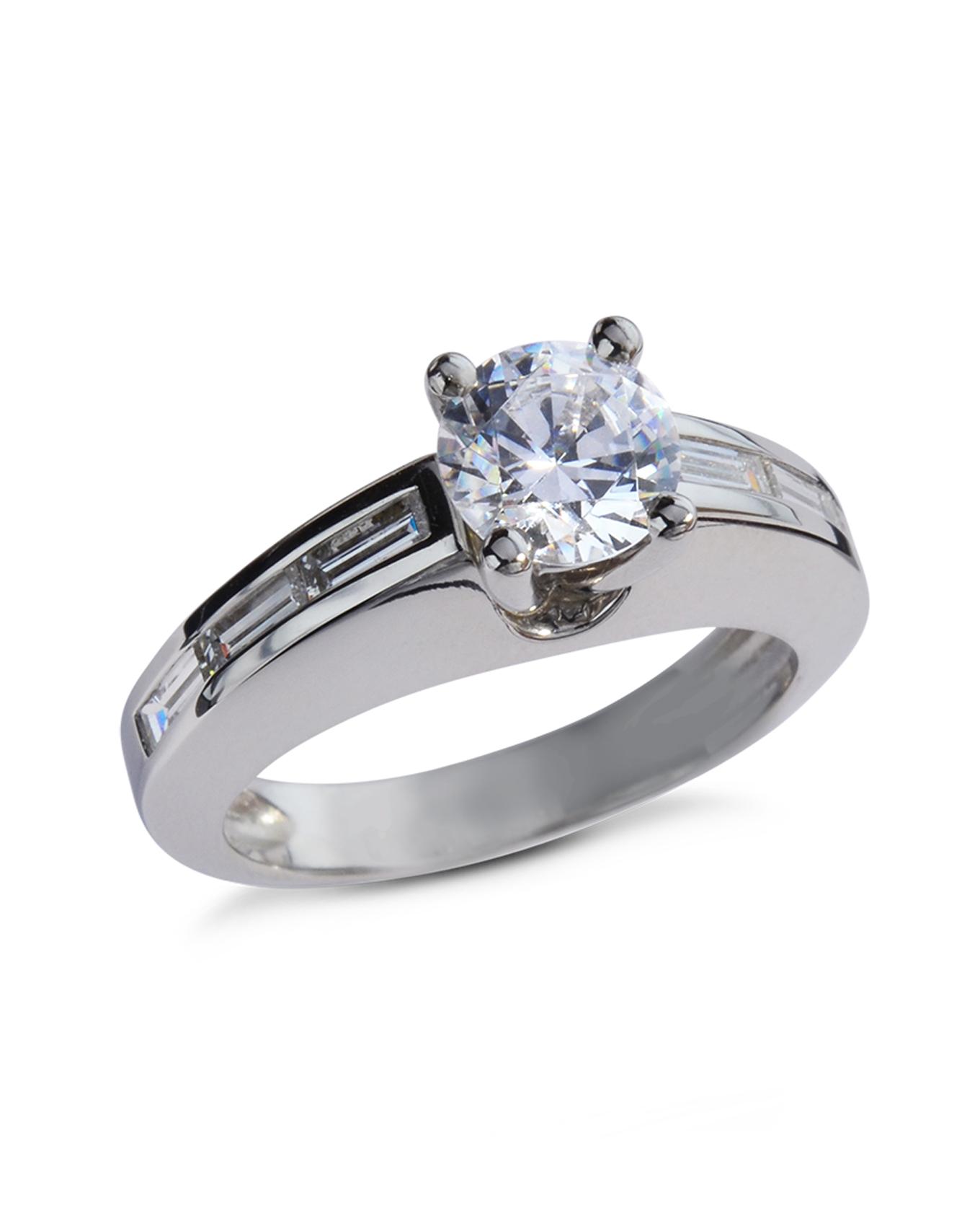 platinum channel set engagement ring turgeon raine