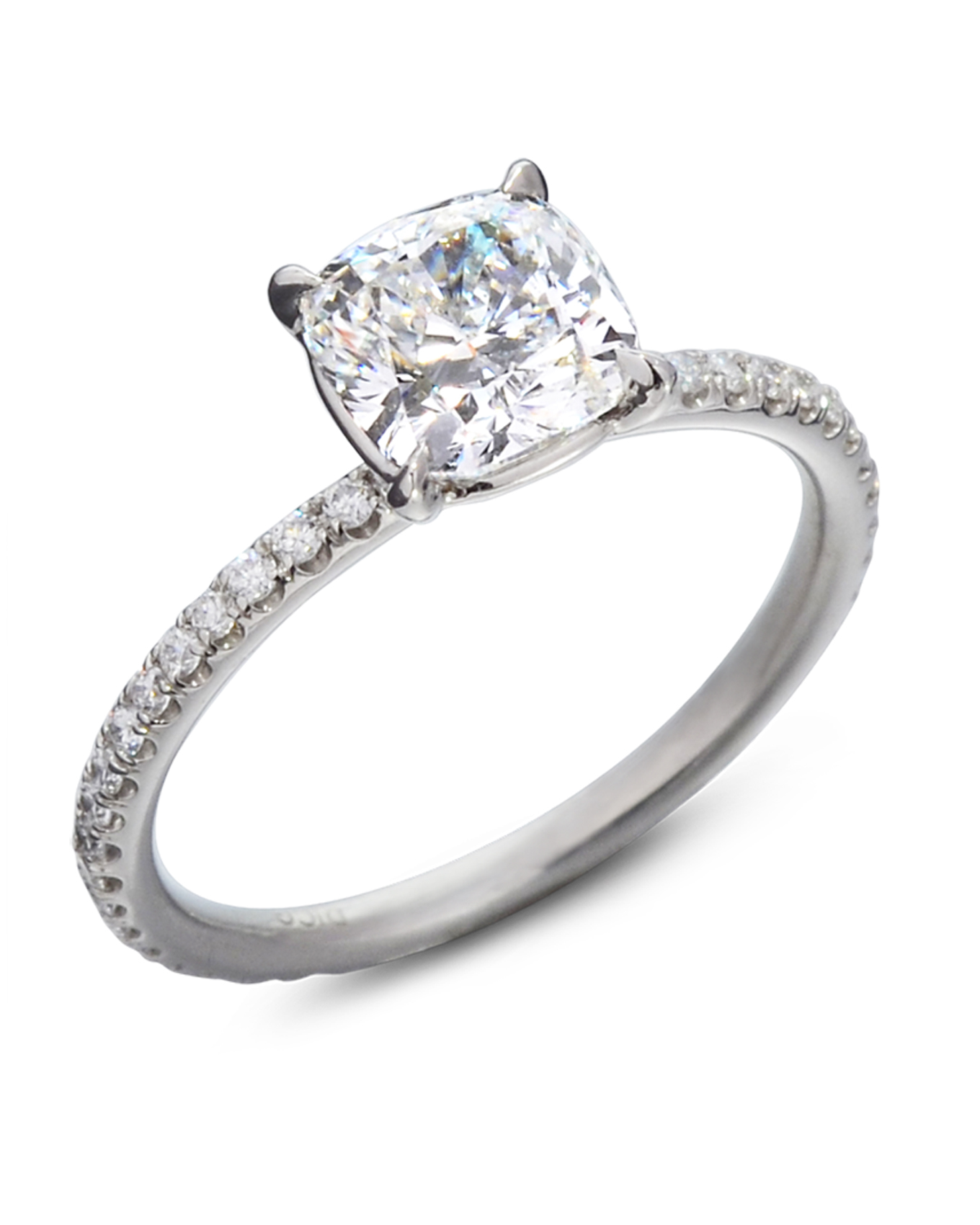 Cushion Cut Diamond Solitaire Engagement Ring  Turgeon Raine. Color Rings. Temporary Engagement Rings. Rare Stone Engagement Rings. Cushion Cut Engagement Wedding Rings