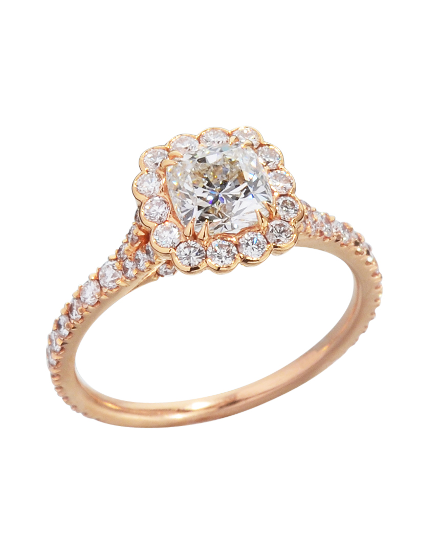 halo ct gia band engagement vert ring beauvince harry winston micropave jewellery diamond rings cut cushion products