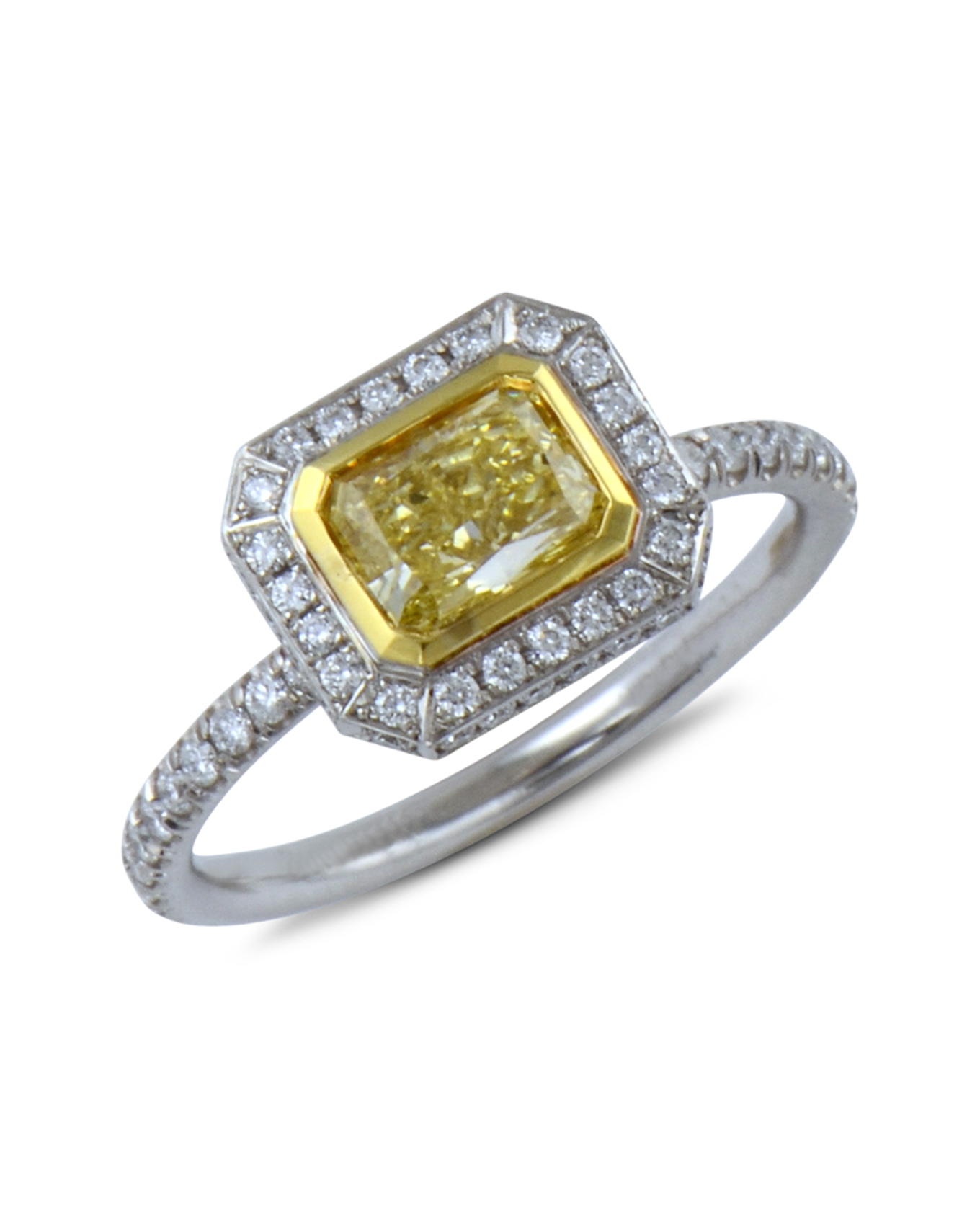 p stone diamond canary radiant ring rings carat htm cut engagement