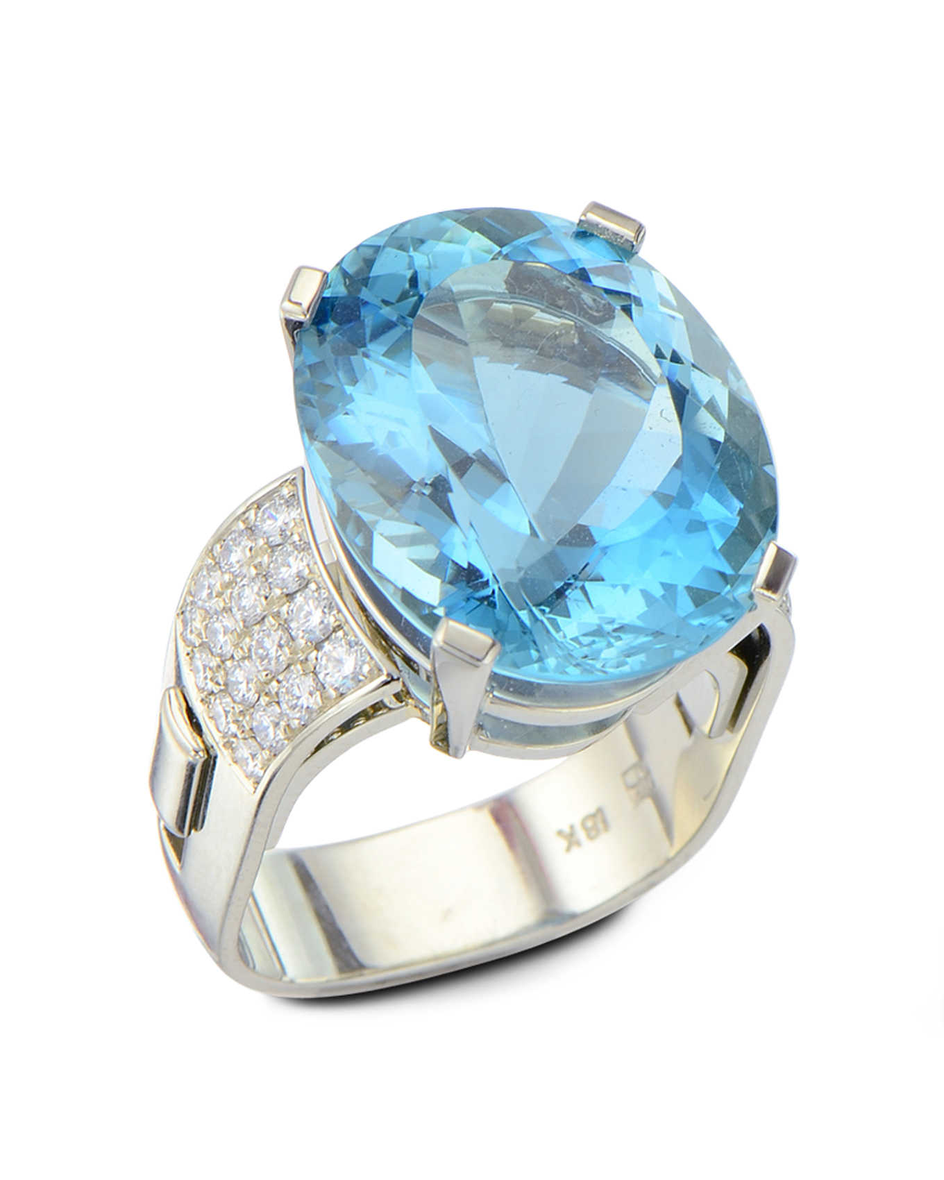 diamonds white jewellery in gold tw with ring aquamarine