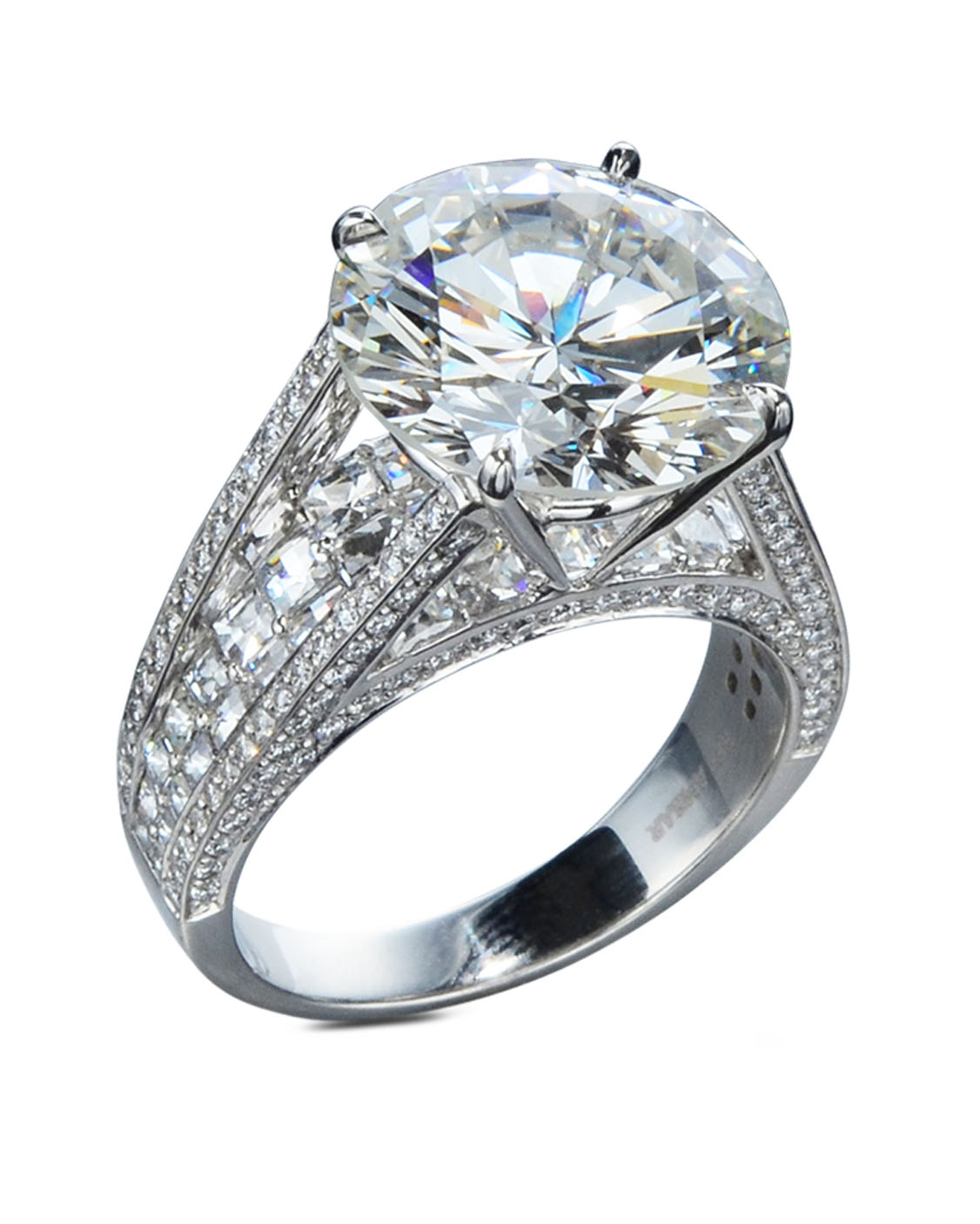 inspirational seven alamuddin engagement carat new s ring diamond amal of