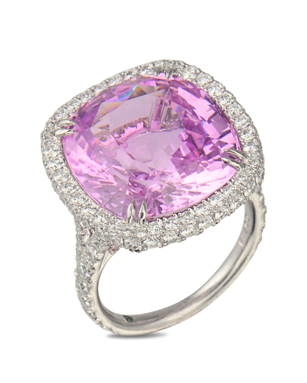 Natural pink sapphire and diamond ring - Turgeon Raine