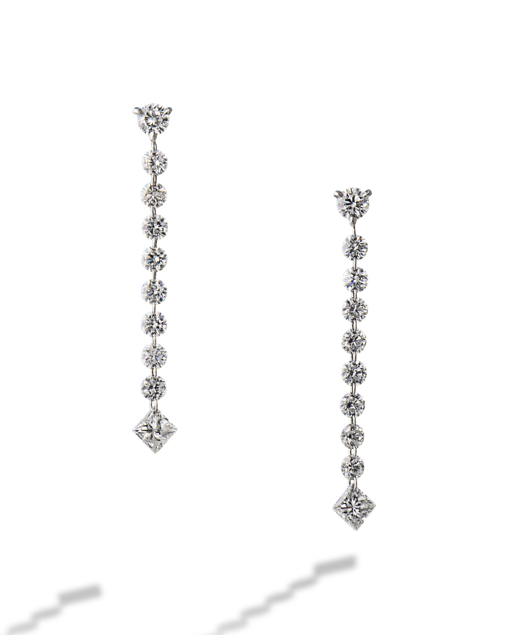 Platinum Floating Earrings
