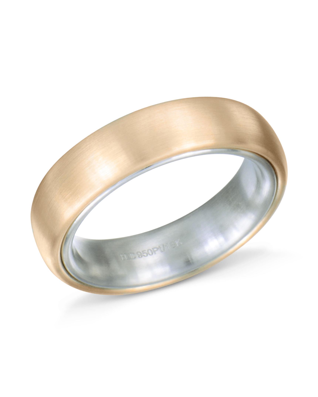 Platinum And Rose Gold Wedding Band By Henrich Denzel