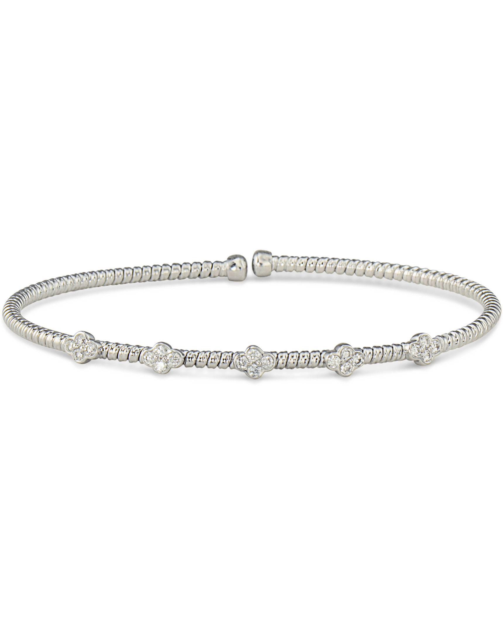 Simple White Gold Diamond Bracelet