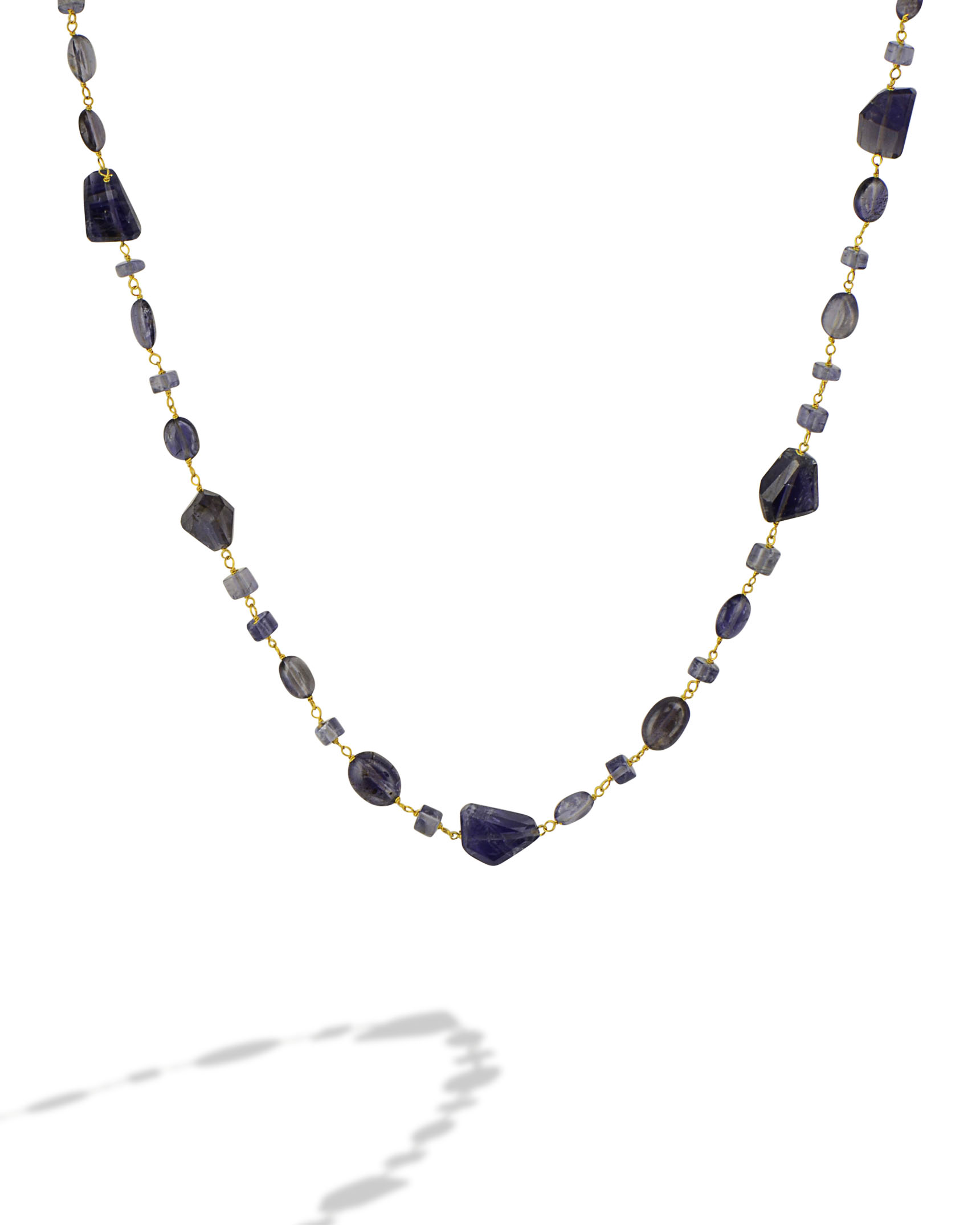 love jewelry pamela necklace gold metallic lyst in plated product iolite lariat and levitation moonstone normal