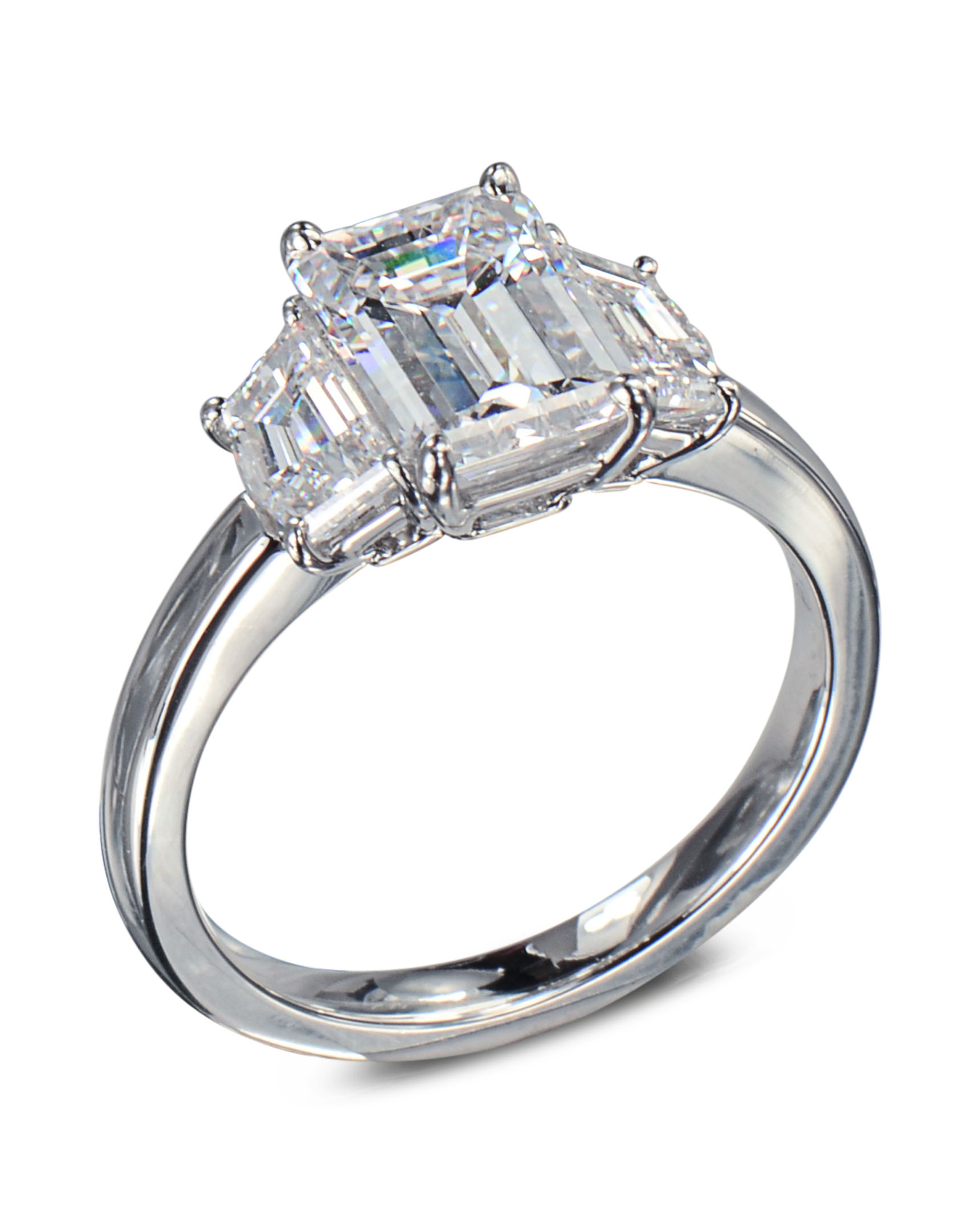 emerald cut products white crown exquisite ring rings engagement gold diamond eternity
