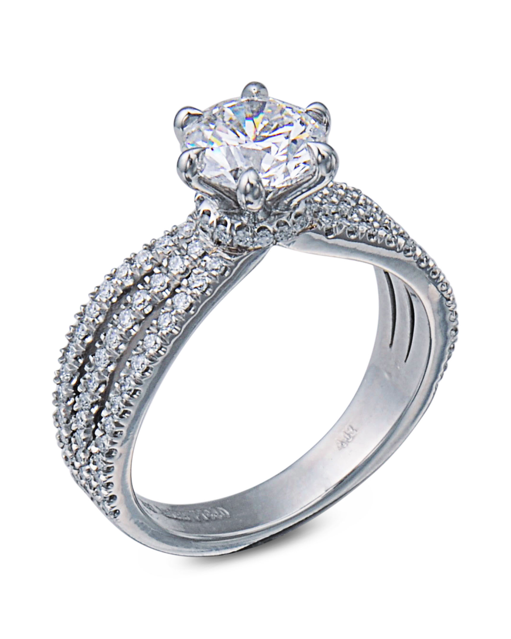diamond ctw set cushion ring products rings round in halo for a collections double of center engagement copy diamonds pave