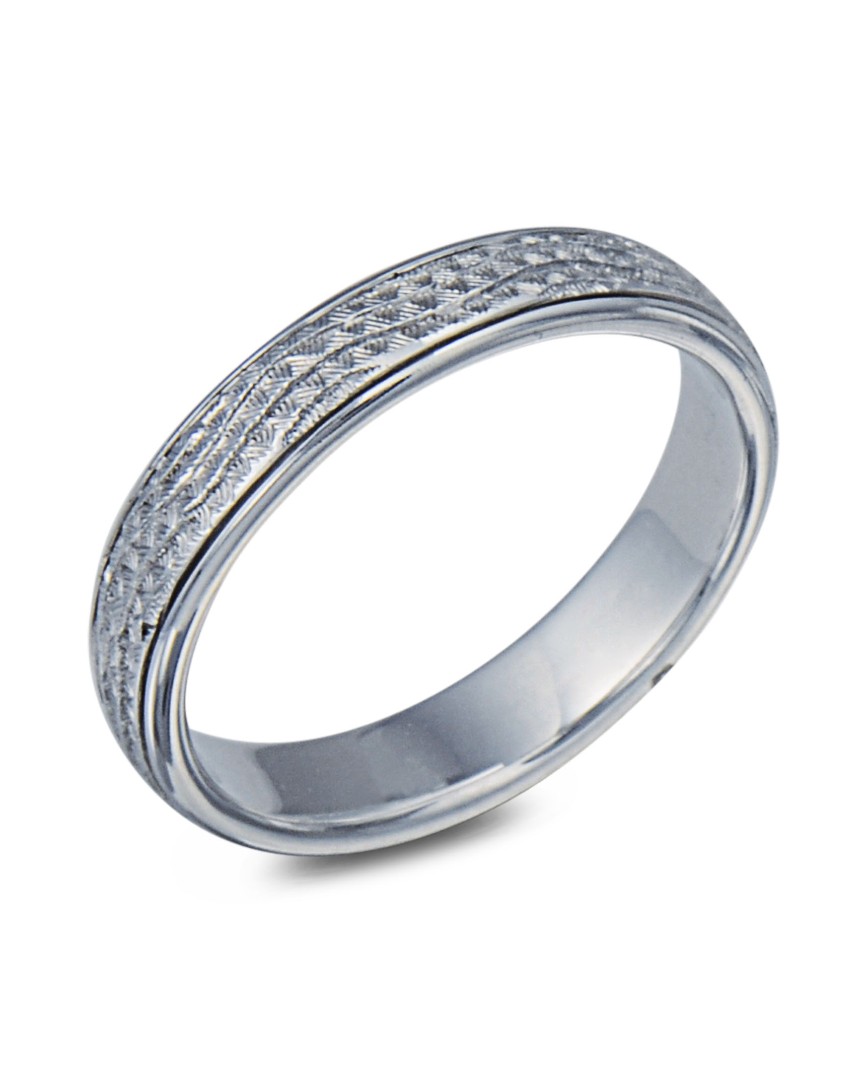 band platinum ring paisley engraved wedding pl bands