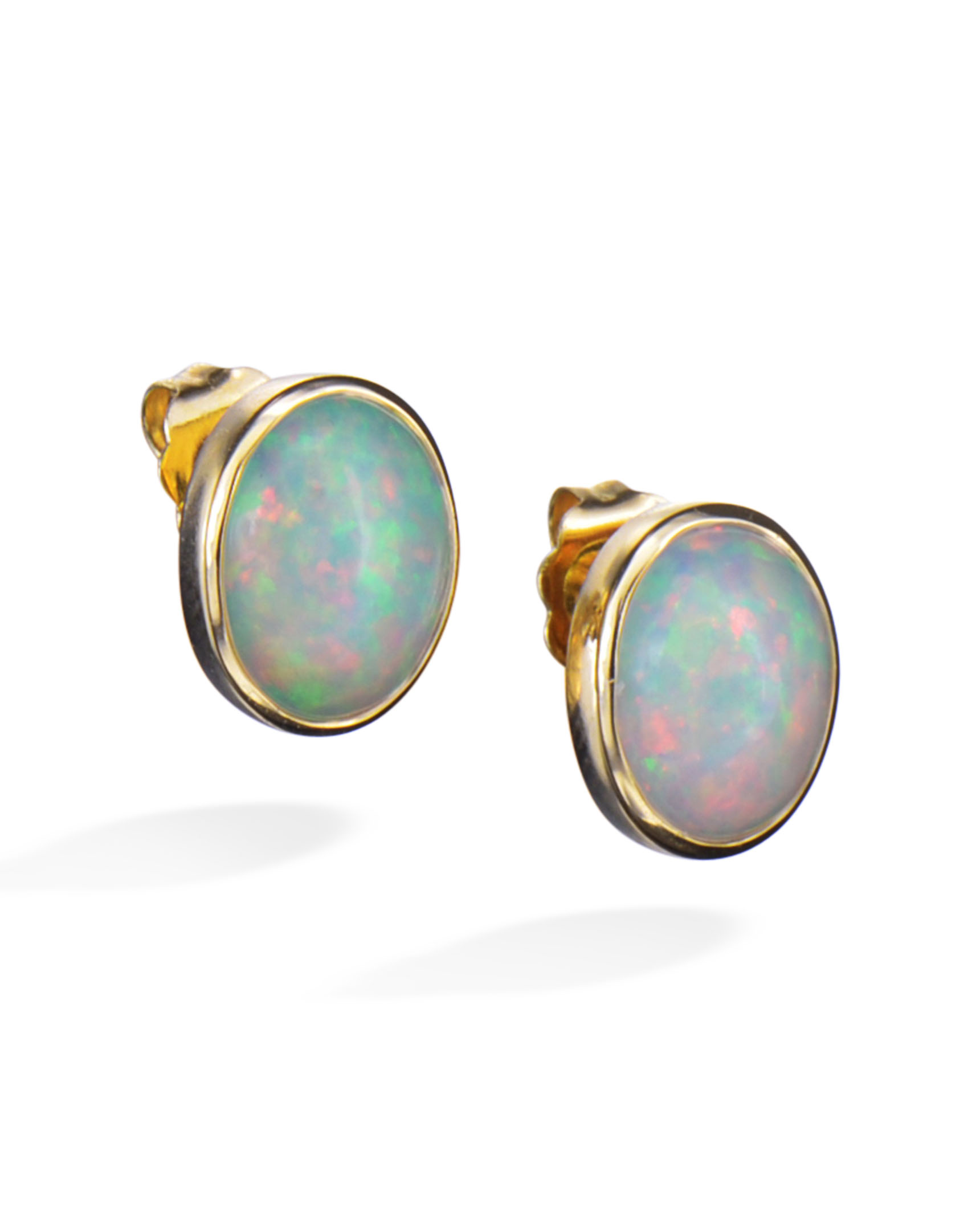 opal aaa natural genuine fullxfull rainbow cabochon il listing silver fire stud earrings studs