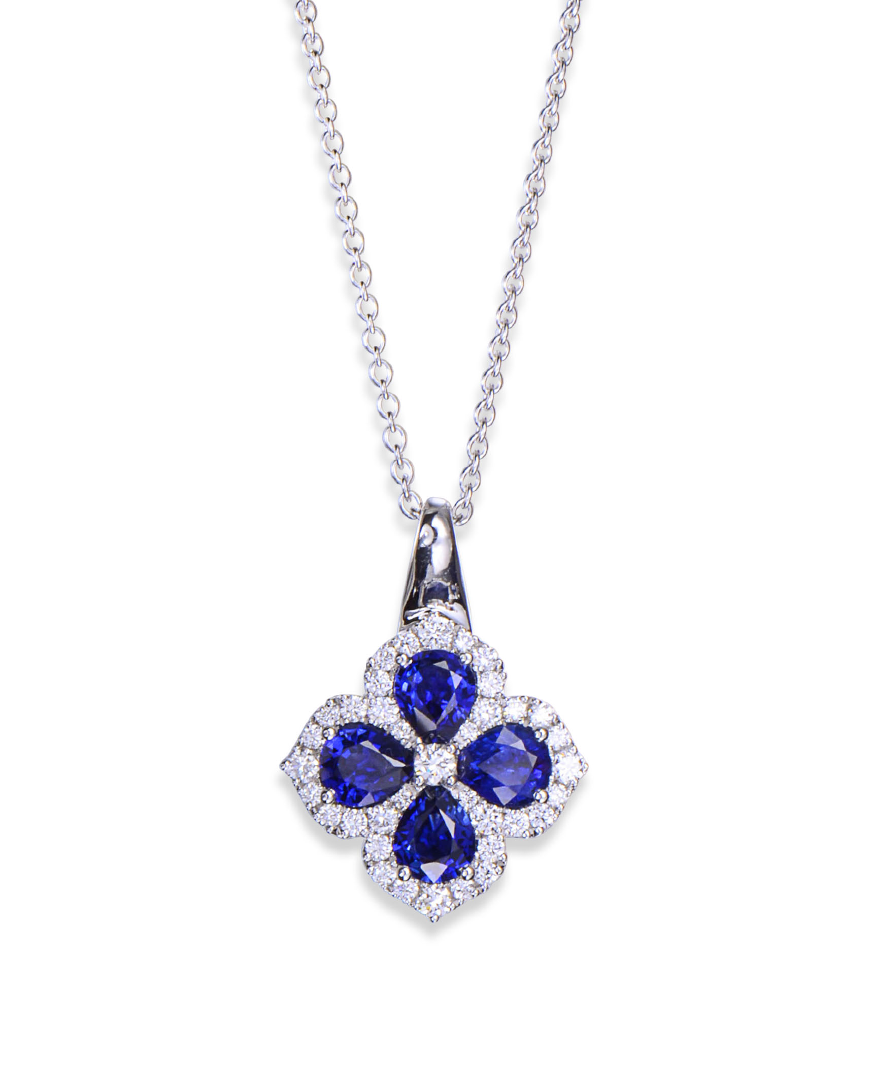 necklace diamond pendant and deep by blue sapphire desires products mikolay