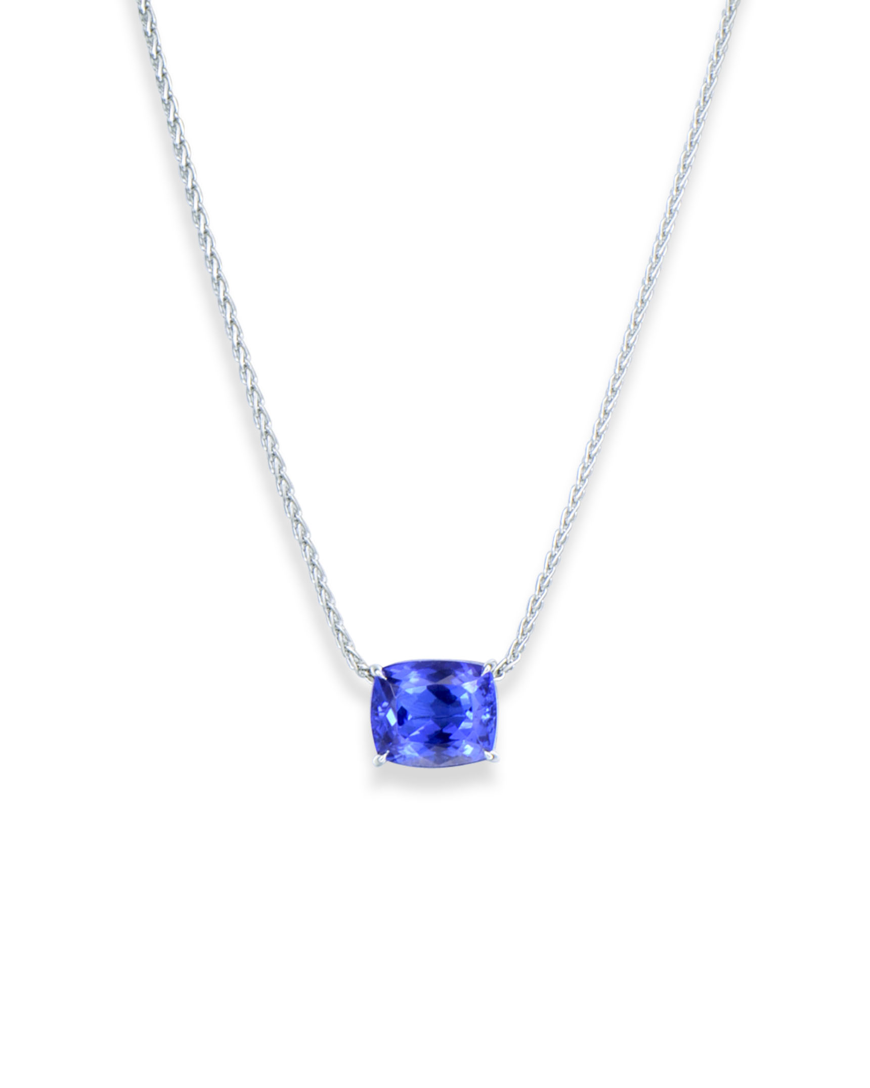 elegant silver pendants jewelry luxury in gemstone trendy blue pendant natural necklace women from fruit gift tanzanite item