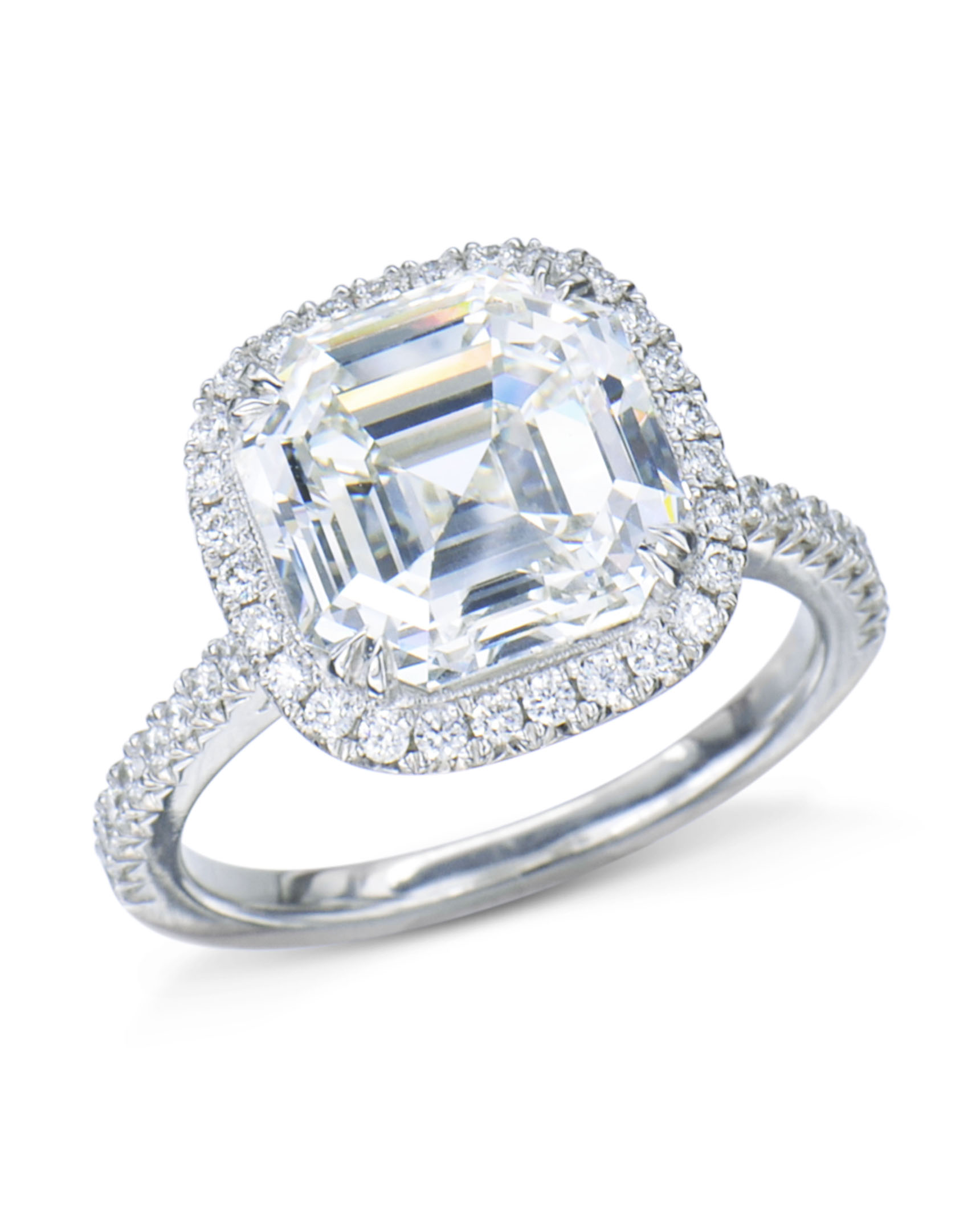 white rings set gold asscher cut ascher solitaire in ring engagement bezel diamond