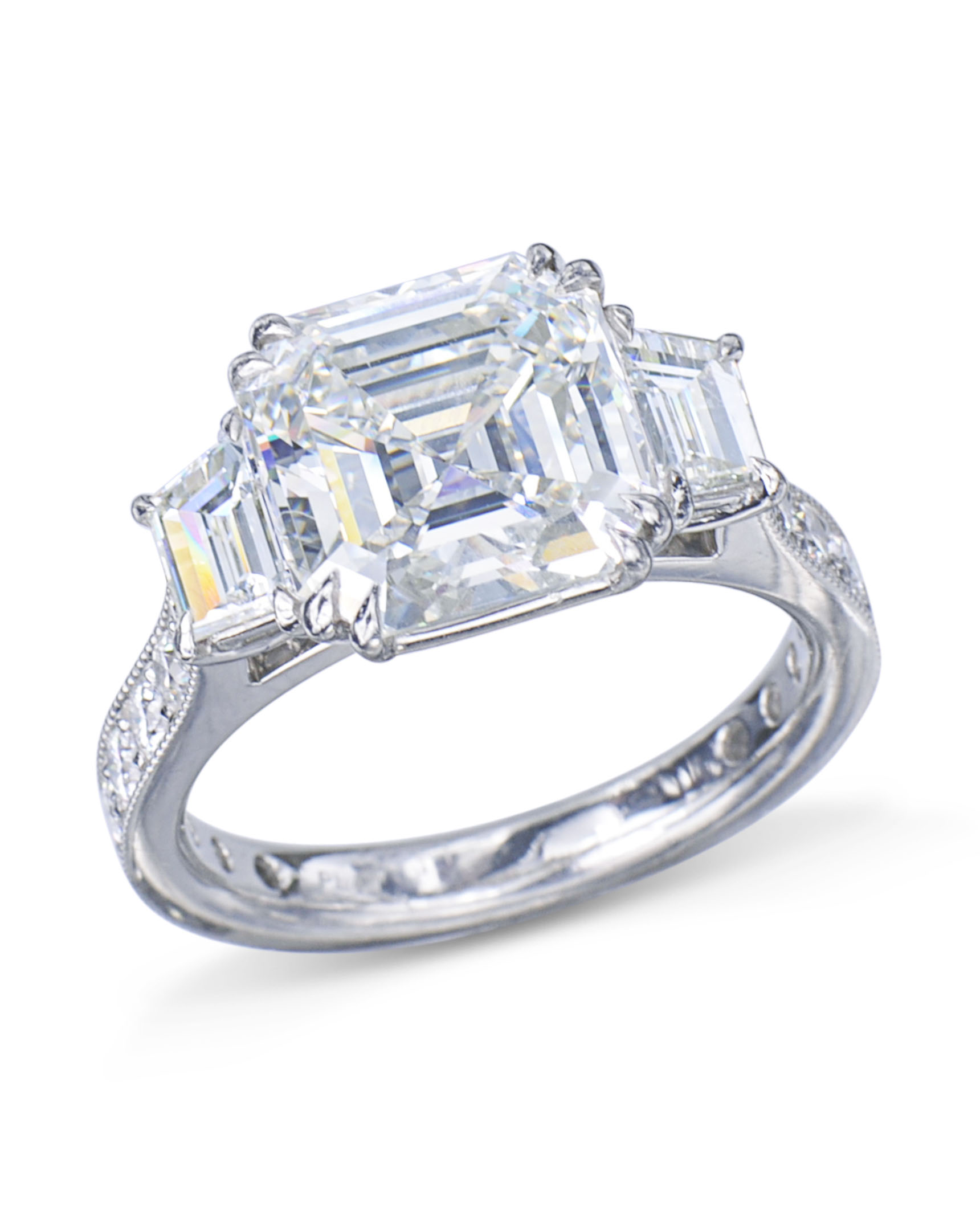 product h in platinum wantmydiamond cut baguette rings magnificent gia diamond carat asscher ring certified engagement