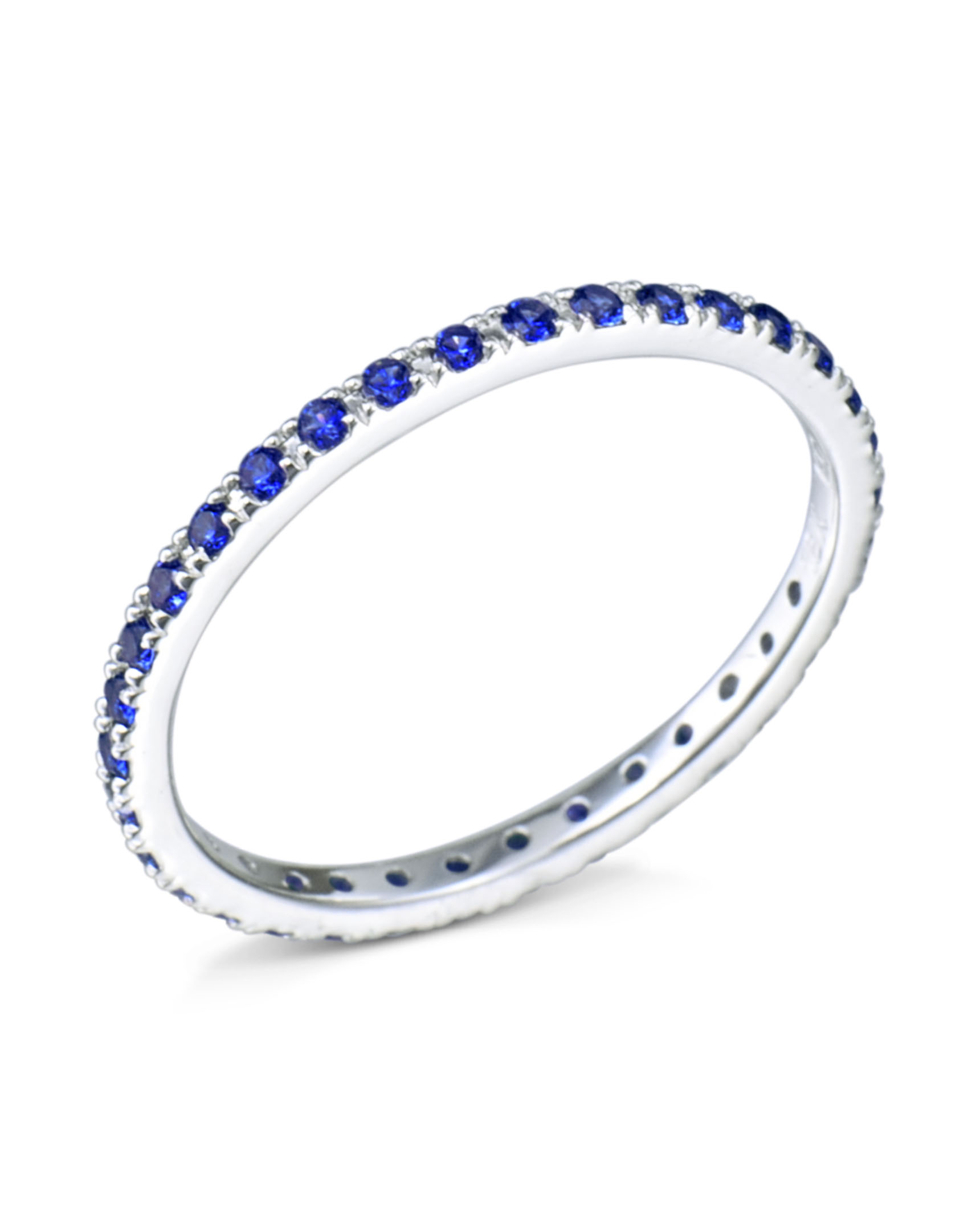products blue sapphire band eternity bands ring gold