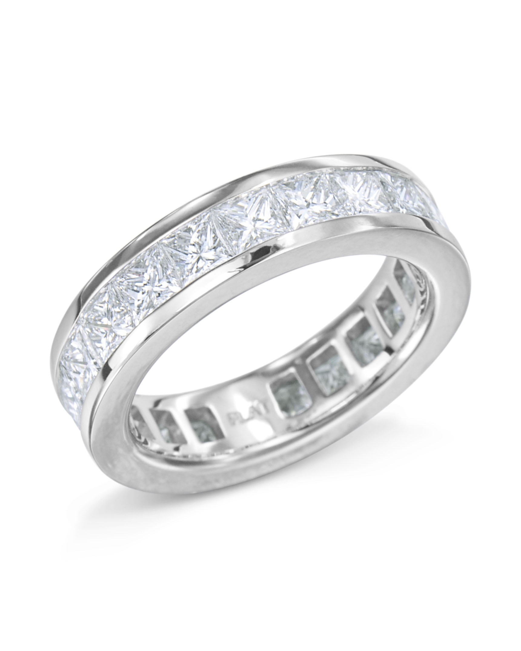 bands engagement oval eternity cut diamond band