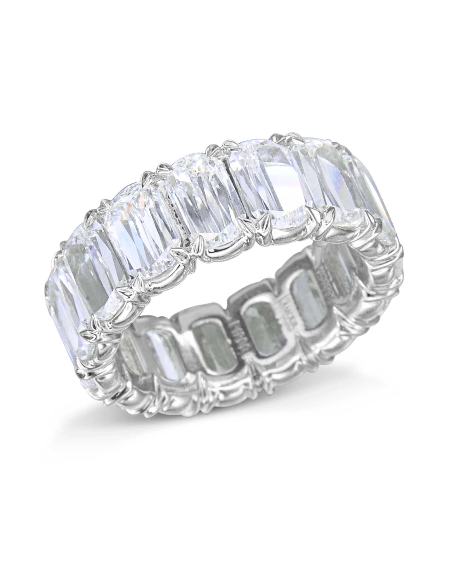 raine diamond eternity band crisscut oval bands turgeon engagement product