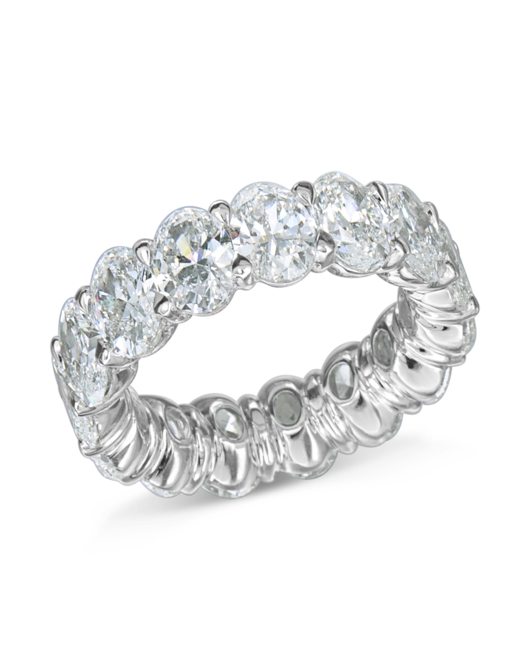 engagement diamond london by shaped eternity heart bands two band