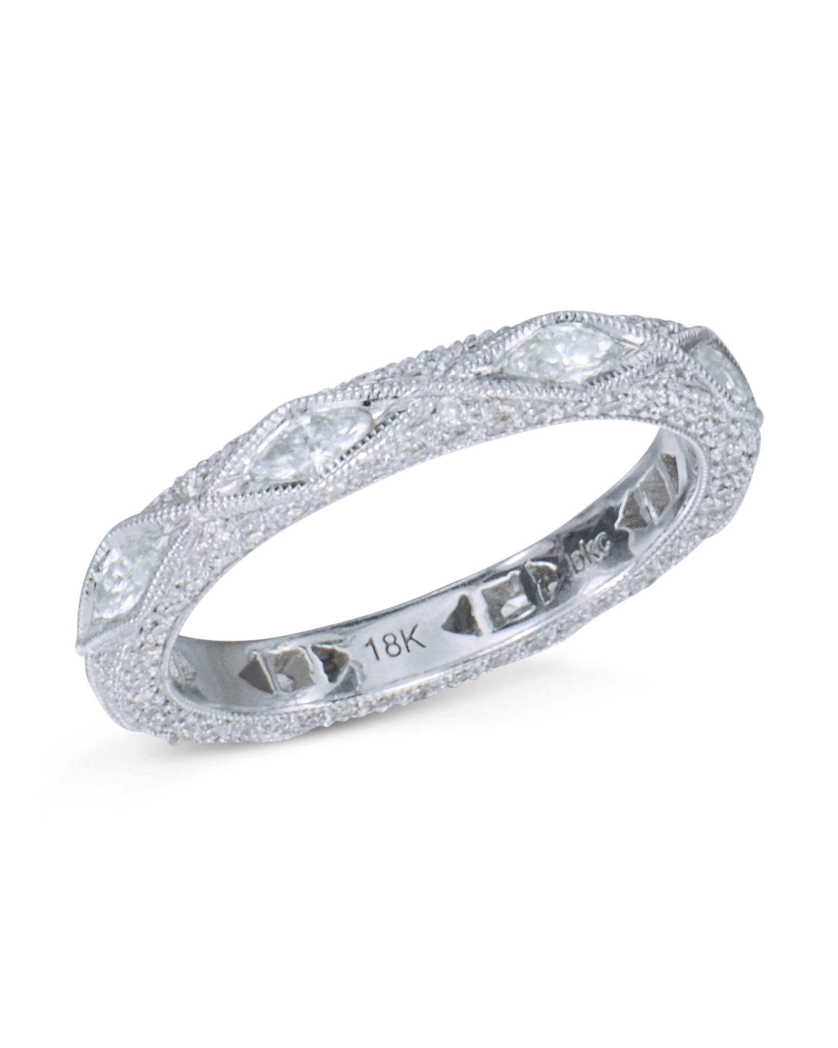 watch diamond bands in over engagement jewelry platinum floating band tw ring ct eternity