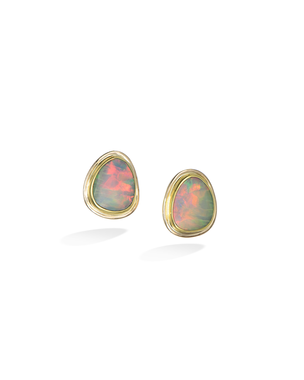 Ethiopian Opal Stud Earrings